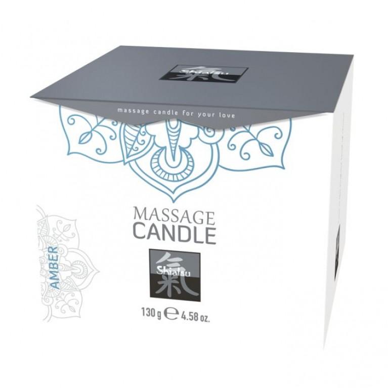Массажные свечка с ароматом Амбра торговой марки «Shiatsu». 130 гр.