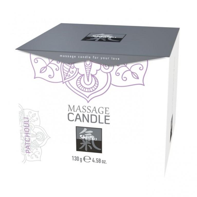 Массажные свечка с ароматом Пачули торговой марки «Shiatsu». 130 гр.