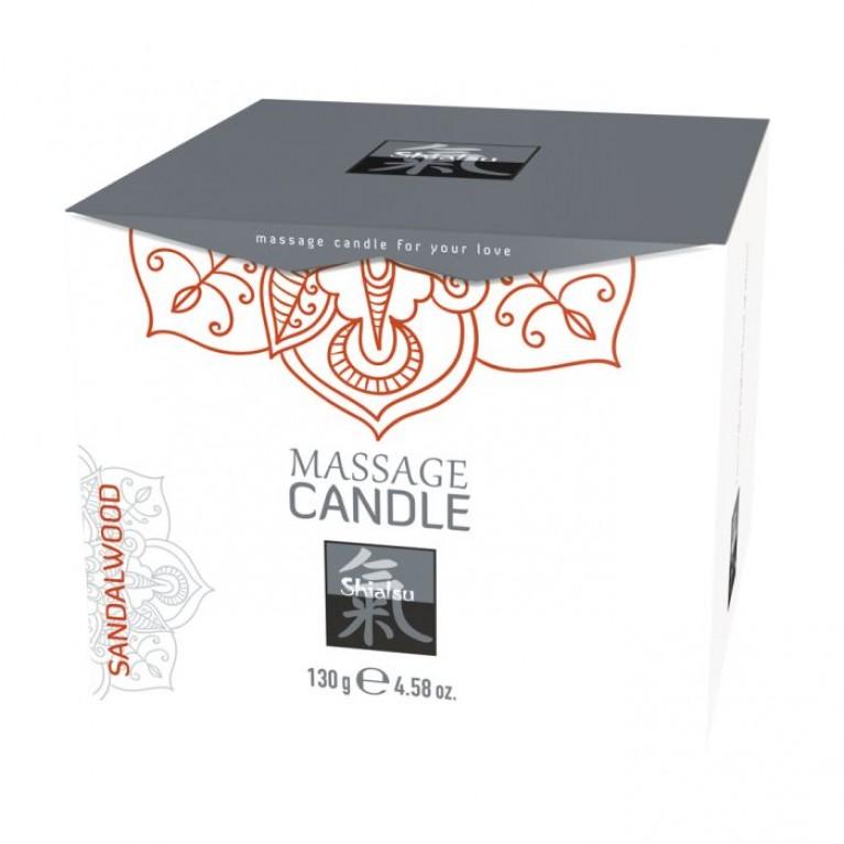 Массажные свечка с ароматом Сандала торговой марки «Shiatsu». 130 гр.