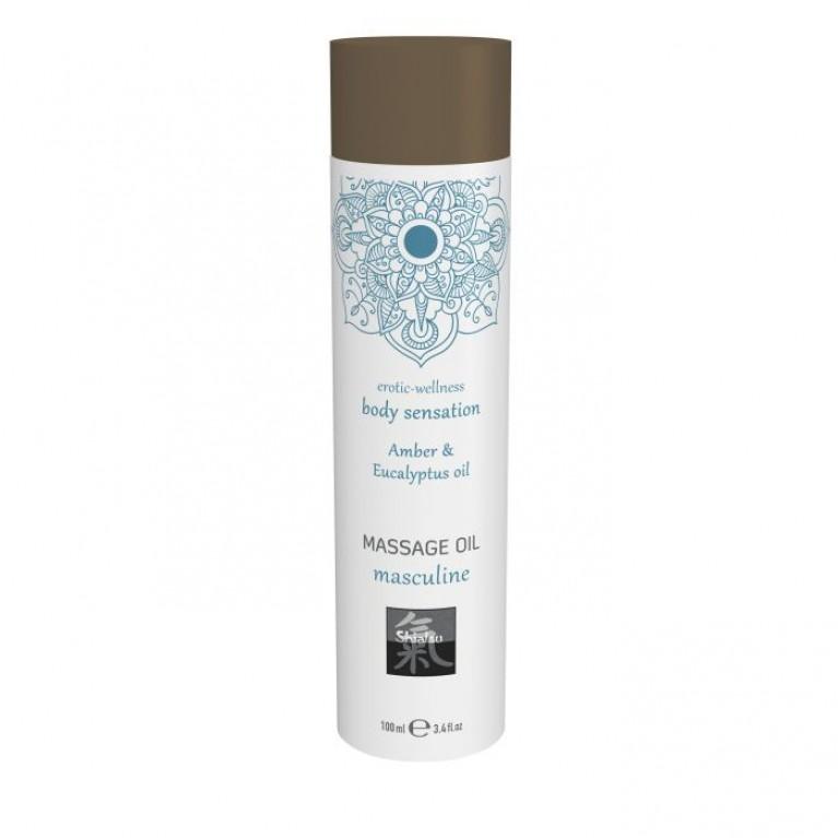 Massage oil masculine - Amber & Eucalyptus oil/Массажное масло masculine - Амбра & масло эвкалипта 100 мл.