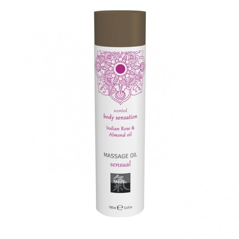 Massage oil sensual - Indian Rose & Almond oil/Массажное масло sensual - Индийская Роза & Масло миндаля 100 мл.