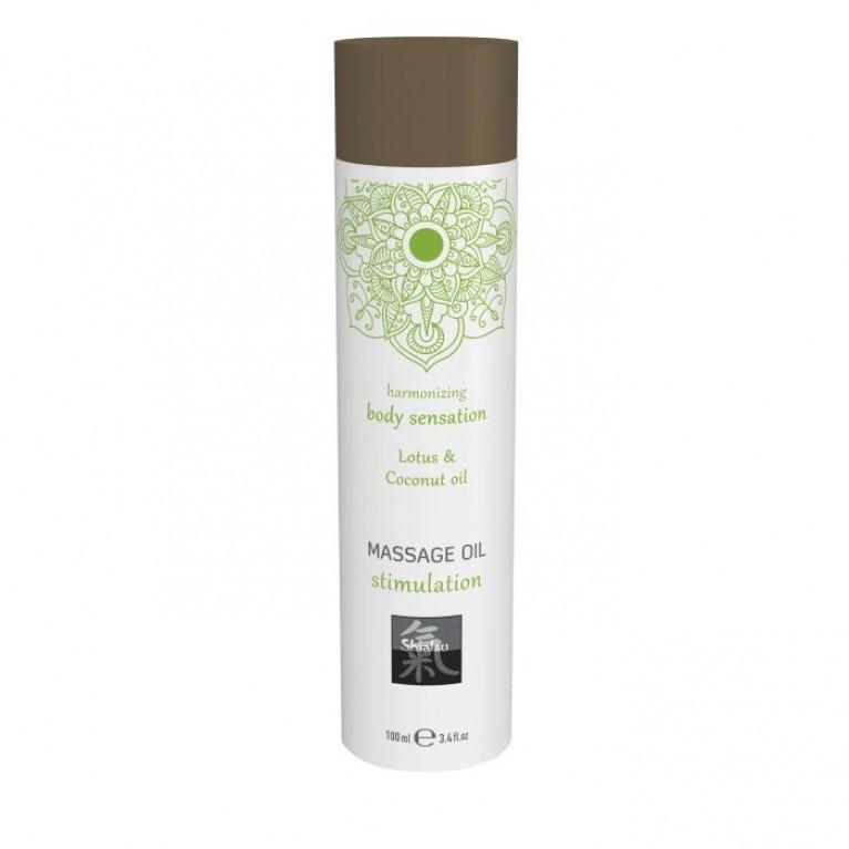 Massage oil stimulation - Lotus & Coconut oil/Массажное масло stimulation - Лотос & кокосовое масло 100 мл.