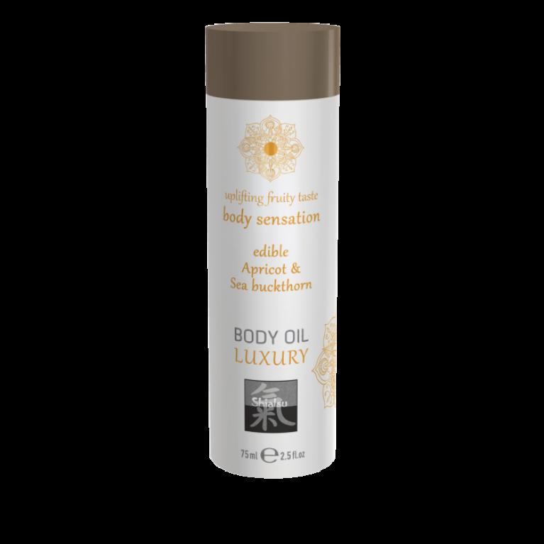 Luxury body oil - Apricot & Sea Buckthorn/Съедобное масло для тела - Абрикос & Облепиха 75 мл.