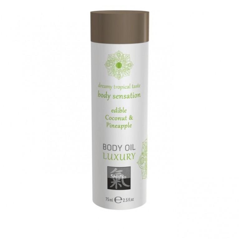 Luxury body oil - Coconut & Pineapple/Съедобное масло для тела - Кокос & Ананас 75 мл.