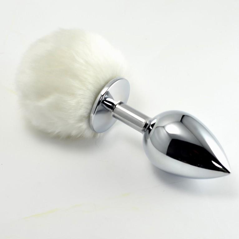 Втулка Металлическая большая зайчик белый