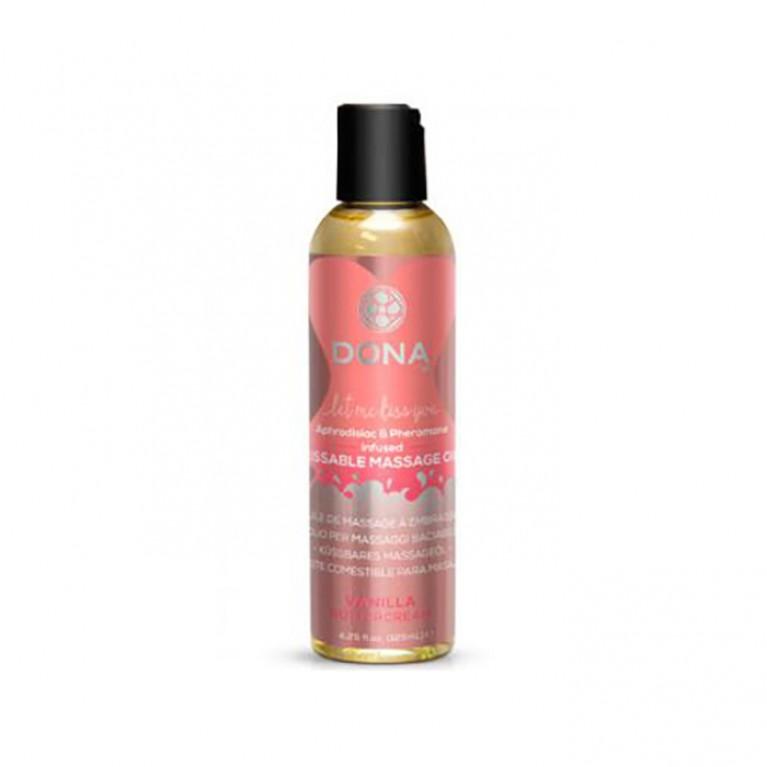 """Массажное масло для поцелуев с феромонами """"Ванильный крем"""" / Kissable Massage Oil - 110 мл."""
