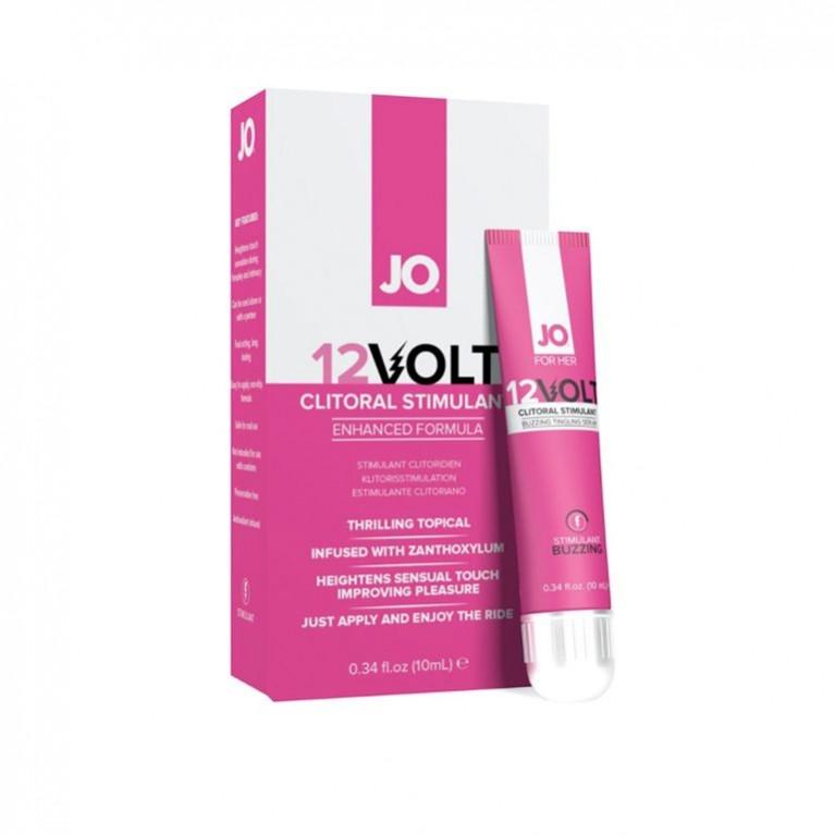 """Возбуждающая сыворотка мощного действия JO 12 Volt с эффектом """"жидкой вибрации"""" - 10 мл."""