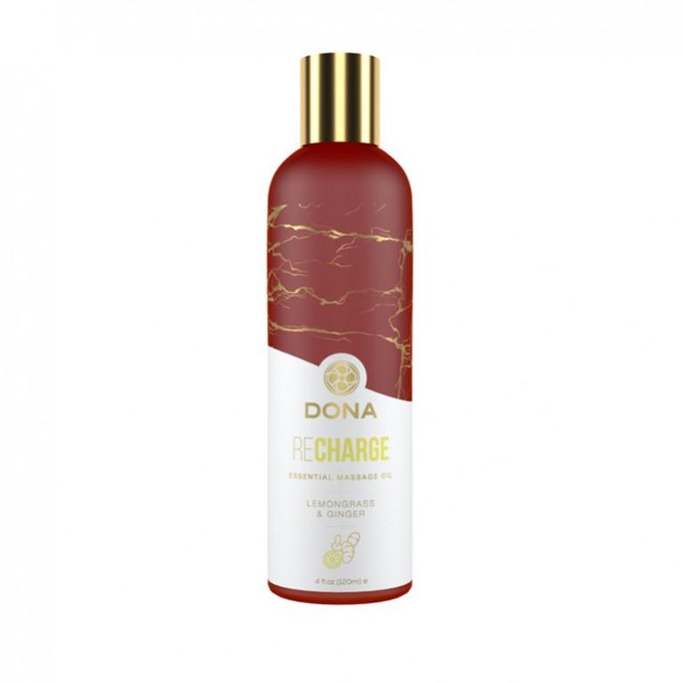 Эфирное массажное масло Dona с ароматом лемонграсса и имбиря - 120 мл
