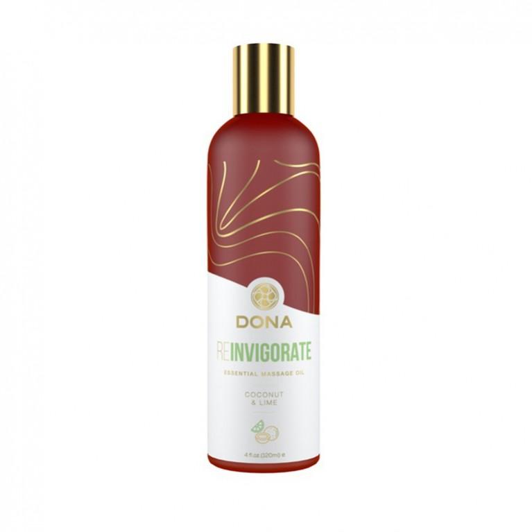 Эфирное массажное масло Dona с ароматом кокоса и лайма -120 мл.