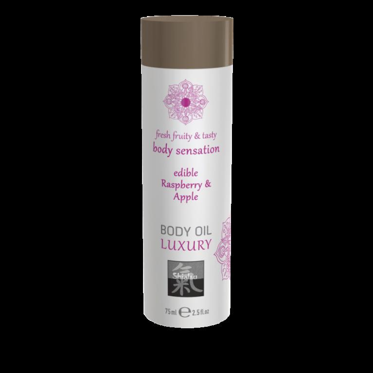 Luxury body oil - Raspberry & Apple/ Съедобное масло для тела - Малина & Яблоко 75 мл.